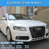 Brillante de color Blanco adhesivas de PVC Materiales de coches Wrap Vinilos