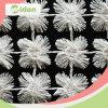 カラーDyeable 100%ポリエステル化学白い花のレースファブリック