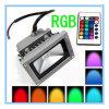 10W RGB LEDのフラッドライトの(緑または赤か青または黄色くまたは暖かく白くか涼しい白)