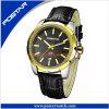 本革バンドが付いている熱い販売の水晶贅沢なブランドの腕時計