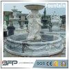 Grande fontaine blanche de piédestal de granit pour la décoration de jardin