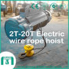 Alta calidad 2 toneladas - alzamiento de cuerda eléctrico de alambre de 20 toneladas