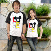 T-shirts de couples de famille de coton de conception de mode