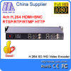 鉱山E-2002 4 CH BNC HDMI Input H. 264 Video Encoder IPTV、Live Stream Broadcast H. 264 1u Structure BNC HDMI Input Video Encoder