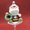 Cute Children Christmas Cake Decorating Pickのための2015熱いSell Colourfu Lpolymer Clay