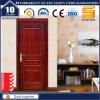 Porte en bois en verre de panneau en bois solide intérieur blanc de fibre de verre