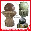 Выполненный на заказ естественный каменный крытый фонтан воды шарика завальцовки