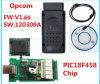 A versão a mais nova V1.60 para Opel OBD2 Opcom com a microplaqueta Pic18f458