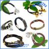 Forma barata bracelete de couro personalizado