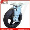 4 Zoll -8 Formen-auf Gummischwenker-Fußrollen mit seitlicher Bremse