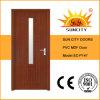 A porta simples interna do PVC do quarto com vidro projeta (SC-P147)