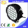 barra chiara del lavoro di alto potere LED dell'indicatore luminoso del lavoro dell'indicatore luminoso dell'indicatore luminoso 63W LED del lavoro del trattore di 12V LED con lo scivolamento del montaggio - parentesi