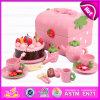 2015 nouveaux jouets en bois de jeu de gâteau pour les enfants, gâteau d'anniversaire en bois populaire de jouet pour des enfants, jeu en bois de gâteau de jouet de cuisine réglé (W10B101)