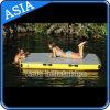 Dock gonflable de ski de gicleur, dock gonflable flottant sur l'eau