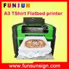 A impressora Flatbed de panos da camisa de A4 A3 T com branco principal de Dx5 Cmyk colore 1440dpi na venda quente