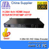 Grube E-2002 4 CH H. 264 HDMI Video Encoder IPTV, Live Stream Broadcast Rtmp HTTP Rtsp H. 264 1u Structure HDMI Video Encoder