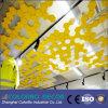 Panneau de plafond acoustique de fibre en bois de panneaux de mur de matériau ignifuge