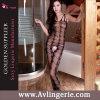 Lingerie noire Crotchless (KS14-028) de combinaison de Bodystocking d'amoureux de Fishnet de femmes