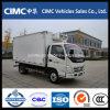 Foton Refrigerator Cooling Van Small refrigerato trasporta il camion su autocarro del congelatore