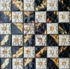 Mosaico Mixed di vetro della stagnola di oro del fiore delle mattonelle di ceramica