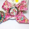 Вахта браслета девушок нового вахты ткани высокого качества вахты платья женщин способа Wristwatch ткани цветка повелительниц Женева конструкции сладостный