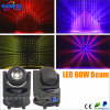 60W LED RGBW 4 in 1 indicatore luminoso capo mobile del fascio