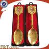 Cuchara suave/Metalspoon del esmalte del oro de la perla de la alta calidad de la aleación del cinc