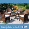 Freizeit populäre PET Rattan-Garten-Tisch-Stühle