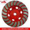 ターボ粉砕車輪のコップ
