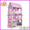 Casa de Bonecas de Madeira com Brinquedo de Móveis (W06A013)