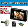 3.0 pouces Touch Screen Door Peephole Camera avec Photo Shooting et enregistrement vidéo Function