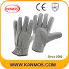 Светлый цвет мебели Кожа Промышленная безопасность водителя Рабочие перчатки (31015)