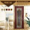 木カラーアルミニウム開き窓の浴室のドア(Z-088)
