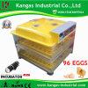 Incubateur automatique des oeufs de Digitals des prix de qualité de la CE meilleurs 96 automatiques bon marché approuvés les plus neufs (KP-96)
