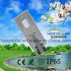 luz de rua solar Integrated IP65 do diodo emissor de luz 15W