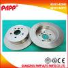 Disque de frein d'accessoires de véhicule pour l'OEM automatique de pièces de rechange de Toyota Chery 42431-42040 42431-42041