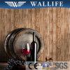 Zr103 het Houten VinylBehang van pvc van het Ontwerp Wasbare