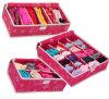 Boîte de stockage de lingerie de 12 cerceaux, pliage non-tissé avec la couverture (YH)