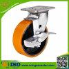 Roheisen-Polyurethan-industrielle Hochleistungsfußrolle