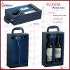 Supporto doppio di cuoio di qualità superiore del vino della bottiglia (5718)