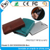 Владельца карточки алюминиевого протектора коробки кредита PU кожаный цветастый с бумажником