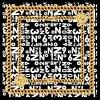 Nr 1 Vierkant Patroon 100% van de Ketting Aich de Sjaal van de Zijde