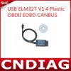 Scanner di plastica del USB Elm327 V1.4 Obdii Eobd Canbus