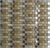 Mosaïque en verre onduleuse de la tuile 3D et en métal