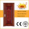 La pintura de acero del precio de la puerta colorea la puerta exterior (SC-S010)