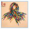Cordones coloridos planos anchos del gradiente del arco iris del cordón
