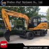 Alta calidad y excavador barato de la rueda del cazador Htl60-9 de China 6ton 0.23m3