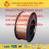 Fio de soldadura protegido do fio de soldadura Er70s-6/CO2 gás de cobre