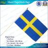 Флаг ручки сигнального флажка полиэфира 14*21cm Швеция (J-NF01F02027)