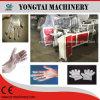 Guante disponible del polietileno del alimento que hace la máquina